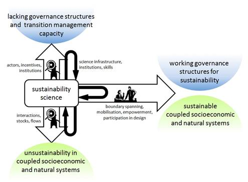 The four roles of science of sustainability